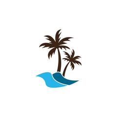Summer logo icon template