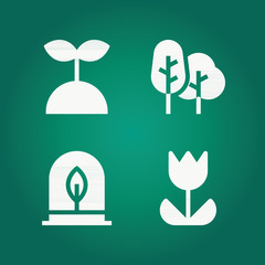 Filled nature 4 vector icons set. nature icon page symbol for your web site design nature icon logo, app, ui. nature icon vector illustration, eps10.
