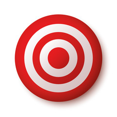 Target icon red - stock vector.