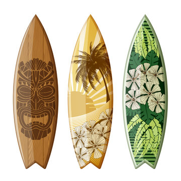 Surfboards with Flat Design