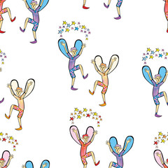 Pattern of the cheerful dancing elves