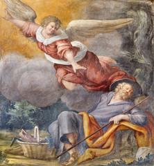 Wall Mural - PARMA, ITALY - APRIL 16, 2018: The fresco of The Vision of angel to St. Jospeh in church Chiesa di Santa Croce by Giovanni Maria Conti della Camera (1614 - 1670).