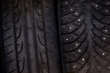 used winter tires pattern texture