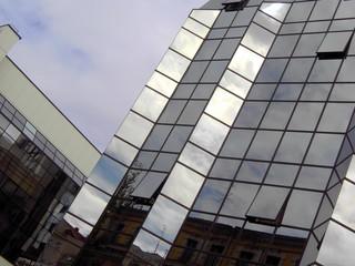 facade of office building