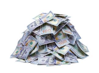 Pile of New Hundred Dollar Bills