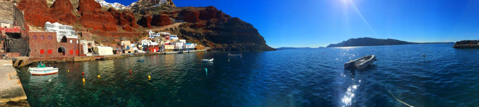 Santorini Bay Panoramic