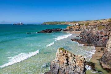 Coastline Gwithian Cornwall England UK