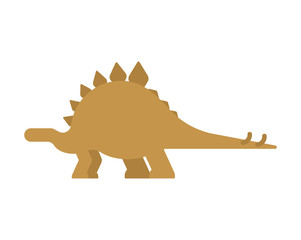 Stegosaurus dinosaur isolated. Ancient animal. Dino prehistoric monster. Beast is Jurassic period. Vector illustration.