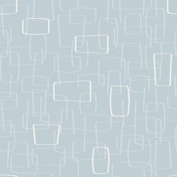 Vector Light Gray Mod Shapes Seamless Pattern Background