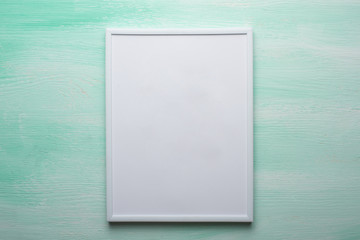 White frame on the wall background