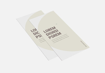 Trifold Brochure Layout with Circular Design Elements