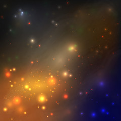 Space galaxy stars. Blue universe background. star sky at night - space background.