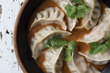 Dumplings in a bowl