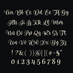 Hand-drawn Brush Alphabet