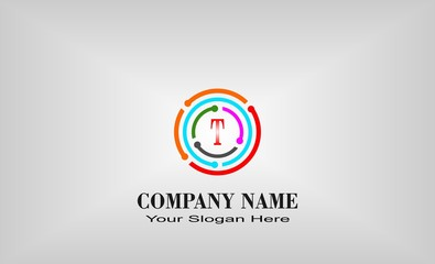creative unique letter design logo
