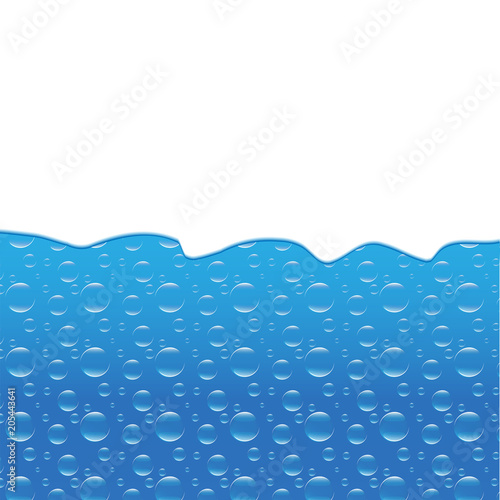 water wave and bubbles template banner vector eps 10 stock image
