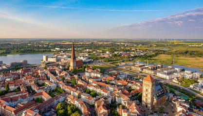 aerial view of the city rostock