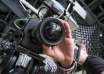 tv camera in a studio
