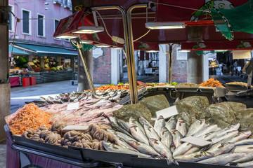 Mercato Ittico di Rialto is a venetian fish market in Venice, Italy
