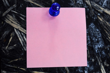 pink sheet of paper for notes