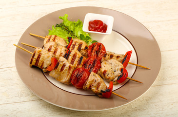 Grilled turkey skewer