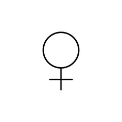 female gender symbol line black
