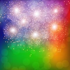 Colorful Fireworks Illustration.