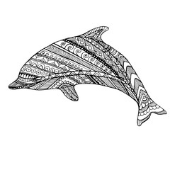 Coloring page dolphin.