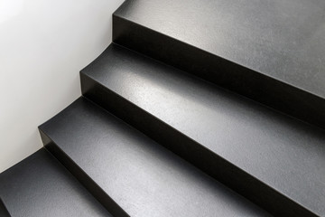 Abstract modern stairs in black and white style