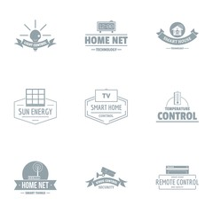 Smart energy logo set. Simple set of 9 smart energy vector logo for web isolated on white background