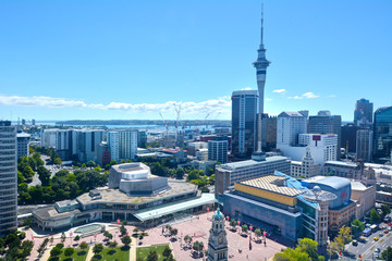 Canvas Prints New Zealand Auckland city Central Business District skyline