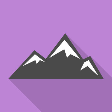 Asian mountains icon. Flat illustration of asian mountains vector icon for web design