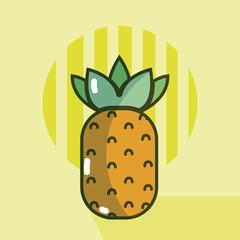 Pineapple food cartoon