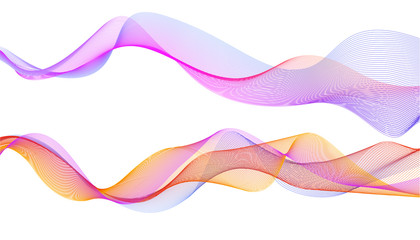 Design elements. Colourful wave of lines. abstract vertical wavy stripes on white background . Vector illustration