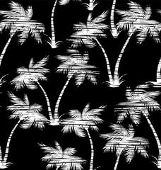 Tropical palms seamless pattern