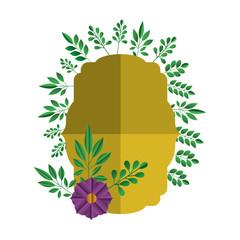 elegant frame with floral decoration vector illustration design