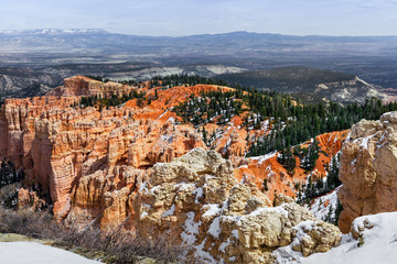 Bryce Canyon Erosion Formations, Scenic Landscape In Utah