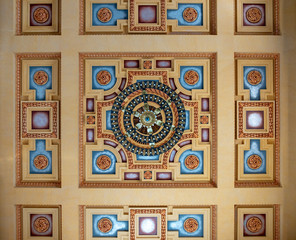 colorful ornate historic ceiling