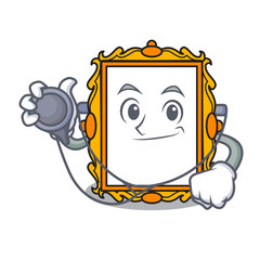 Doctor picture frame character cartoon