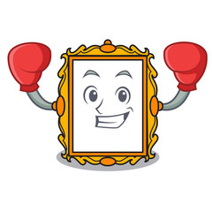 Boxing picture frame character cartoon