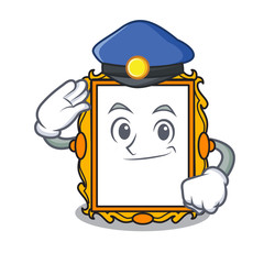 Police picture frame character cartoon