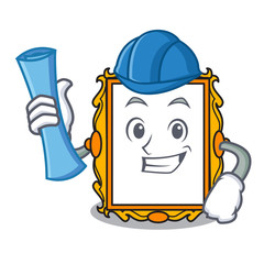 Architect picture frame character cartoon