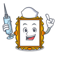 Nurse picture frame character cartoon