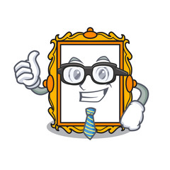 Businessman picture frame character cartoon