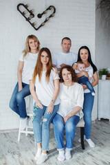 Big family portrait, studio