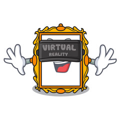 Virtual reality picture frame mascot cartoon