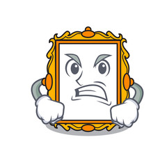 Angry picture frame mascot cartoon