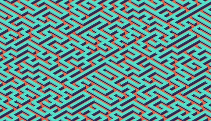 Maze pattern abstract background with labyrinth for poster or wallpaper