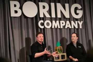 Elon Musk speaks at Boring Company community meeting in Bel Air, Los Angeles