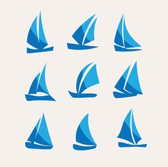 Ship Icon Set, art vector logo design